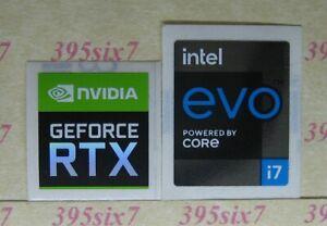 Nvidia Geforce RTX Sticker + intel Core i3 i5 i7 vpro 9Gen 10Gen 11Gen Sticker