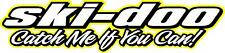 "Skidoo Catch me if you can snowmobile sticker decal 22"" yellow"