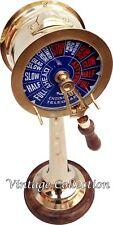 "18"" Nautical Brass Ship Telegraph Both Side Bell Sound Antique Maritime Decor"