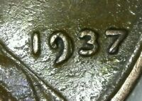 1937 DDO Lincoln Wheat Cent Doubled Die Obverse Date & Lincolns eyes lips chin
