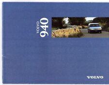 Volvo 940 Series 1995-96 UK Market Sales Brochure GLE SE S Base 900-Series