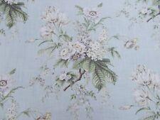 Sanderson Curtain Fabric 'TOURNIER' Silver/Eggshell 1.5 METRES 100% Linen