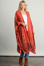 PLUS SIZE XL/1XL UMGEE SUNSET Kimono Maxi Duster/Cardi/Cover Up OVERSIZE  BHCS