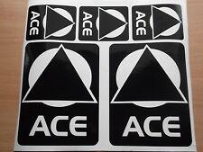 5 x ACE CARAVAN MOTORHOME  STICKERS