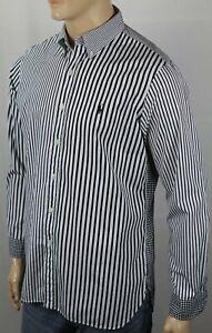 Ralph Lauren Black White Stripe Checkered Classic Dress Shirt Black Pony NWT