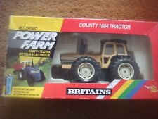 BRITAINS 1:32 SCALE 9324 COUNTY 1884 POWERFARM WHITE TRACTOR VG Boxed