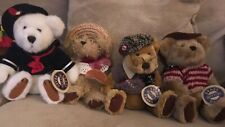 The Brass Button Bear Collection Lot of 4 - 1990's Retired Euc