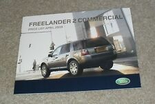 Land Rover Freelander 2 Commercial Price List April 2008 - S & XS