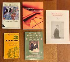 5 Books Regarding Gertrude Stein, First Editions, Henri Pierre Roché