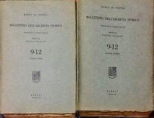 BANCO DI NAPOLI. BOLLETTINO DELL'ARCHIVIO STORICO (9-12) - F. NICOLINI - 2 VOLL.