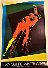 ANDY WARHOL Original SARAJEVO XIV WINTER OLYMPIC GAMES 1984 Lithograph Poster BK