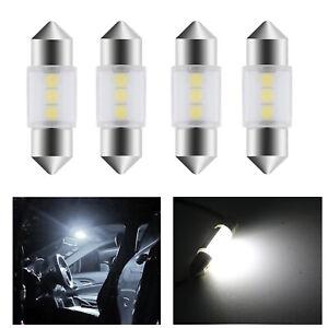 4X 3175 31MM LED Bulb Dome Map Trunk Light 3-SMD Bright Festoon for Nissan Titan