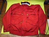 VTG SOS Sportswear Of Sweden Ski Jacket Coat Red Yellow Block XL