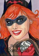 DC Comics Bombshells Sketch Card 1/1 By Marcia Dye