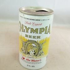 "Olympia Beer, empty beer can, 12 oz, Aluminum can, ""It's the water"""