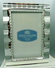 """Royal Gallery Collection - 4""""x6"""" Mini Wave - Photo Frame/ Album - Silver Plated"""