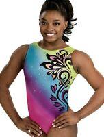 Simone Biles GK Elite LEOTARD Gymnastics BOHO GLAM OMG Sequin BLING Bodysuit AM