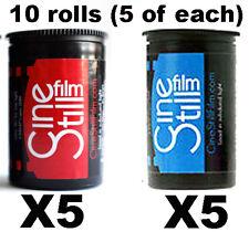 10 paquete de mezcla cinestill Genuino 50D & 800 T 35 mm película Reino Unido Vendedor = sin impuesto de importación