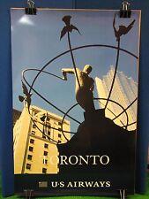 "Vintage Original US Airways Travel Poster 36 x 24"" Toronto Canada Airport Agency"