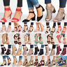 Womens Mid Block Heels Wedge Sandals Casual Chunky Ankle Strap Party Shoes Size