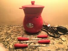 Velata Fun Fondue Rouge Glossy Red Fondue Warmer