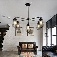 Vintage Pendant light Kitchen Ceiling Lights Black Chandelier Lighting Bar Lamp