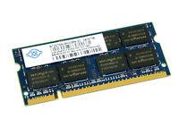 NT2GT64U8HD0BN-3C GENUINE NANYA LAPTOP MEMORY 2GB DDR2 PC2-5300S (CA610)