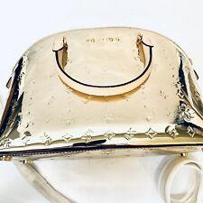Michael Kors Emmy Dome Metallic Mirror Satchel Bag - Gold