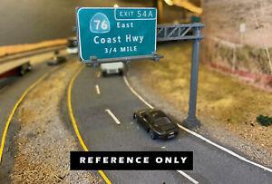 HO Scale 1/87 Modern Freeway Highway road Sign