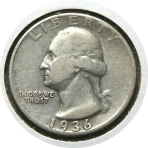 elf Quarter Dollar Washington 1936  063