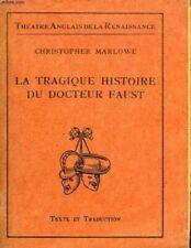 La tragique Histoire du docteur Faust | Christopher Marlowe | Bon état
