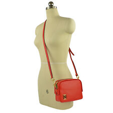 NWT MARC JACOBS The Mini Squeeze Leather Crossbody Bag in Cayenne Pepper/Gold