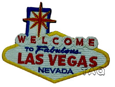 Welcome To LAS VEGAS Nevada Patch iron-on embroidered Road Sign biker badge 203