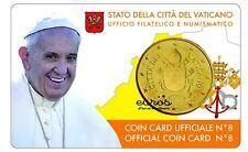 Coincard 50cts ou 0,50€ Vatican 2017 - Le Saint Père - n°8 - Nouvelle effigie