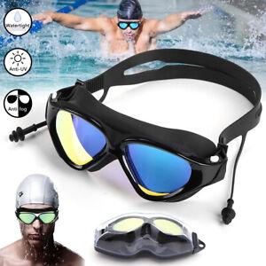 Clear Mirror Swimming Goggles Anti-UV Anti-Fog Swim Glasses For Adult Men Women