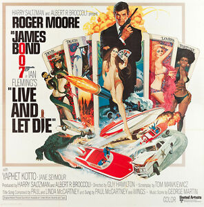 Home Wall Print - Vintage Movie Film Poster - LIVE AND LET DIE 2 - A4,A3,A2,A1