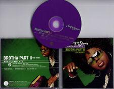 ANGIE STONE with ALICIA KEYS & EVE Brotha Part II The Remix US 3-track promo CD