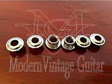 6 - Tuner Adaptor Conversion Bushings Ferrules Tuning Machine 10mm to 6mm Chrome