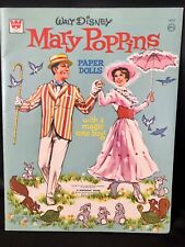 Original Vintage Uncut WALT DISNEY'S MARY POPPINS PAPER DOLLS c. 1973