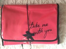Victoria's Secret Pink & Black Tri-fold Hanging Travel Cosmetic Lingerie Bag NWT