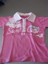 Poloshirt T-Shirt Shirt Gr. 128 X-Mail Pink/Weiß Motiv California nicht getragen