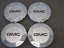 """GMC BLACK CENTER CAPS FOR 22"""" ESCALADE CHROME WHEELS RIMS 5309 SET OF FOUR NEW 4"""