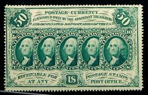 1862-63  50 CENT FRACTIONAL CURRENCY FR-1310 CERTIFIED PCGS CHOICE ABOUT NEW 58