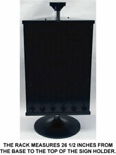 3 Sided Black Counter Top Peg Board Spinner Rack Display Hooks Included