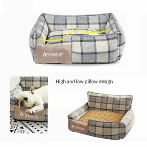 Soft Dog Cat Pet  Bed Washable Fleece Warm Kennel Puppy Sofa Mat Removable Cover