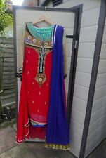 Red And Multi Coloured Indian Dress (sharara)