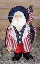 Primitive Americana Patriotic Resin Santa