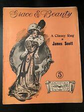 Grace and Beauty Rag JAMES SCOTT Classic Ragtime Sheet Music 1909 Stark Music Co