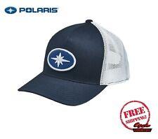 POLARIS PATCH HAT TRUCKER CAP BASEBALL RZR RMK SPORTSMAN ACE NAVY BLUE