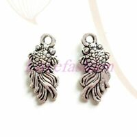 200pcs tibetan silver tone 2sided wing charms EF1960